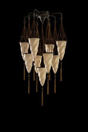 Cesendello Chandelier glass ceiling lamp