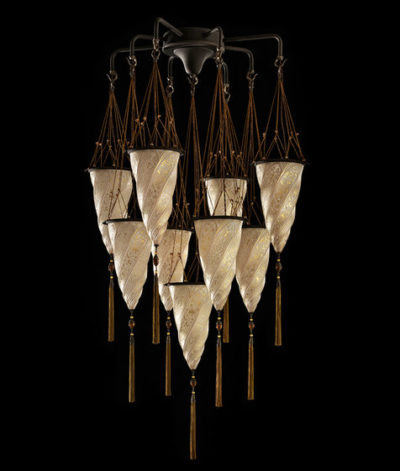 Cesendello Chandelier glass ceiling lamp