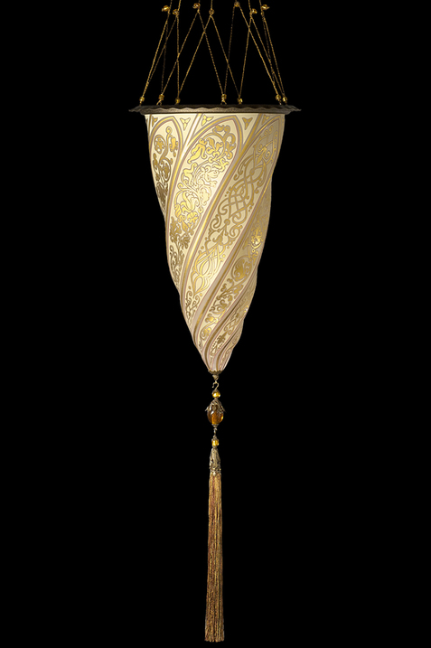 Cesendello Chandelier glass ceiling lamp single gold