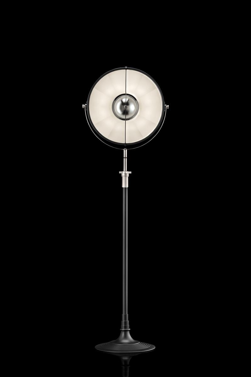 Fortuny Atelier 41 floor lamp black and white