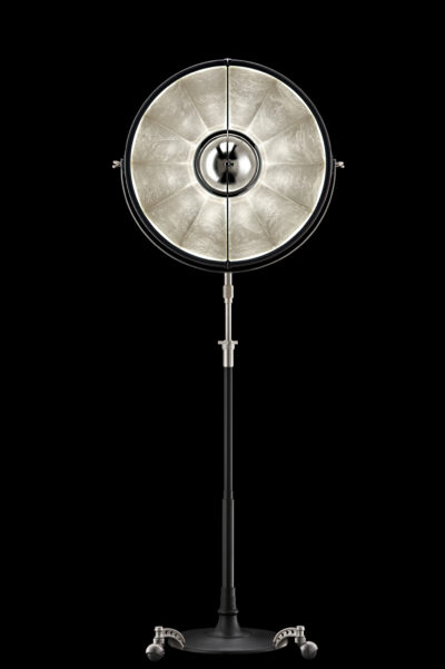 Fortuny Atelier 63 floor lamp black silver leaf