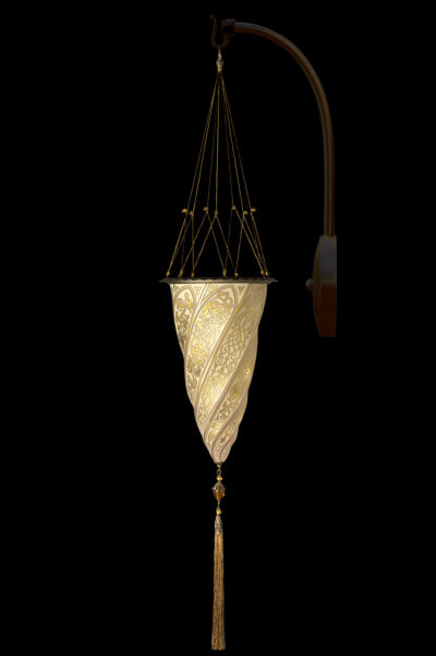 Fortuny Cesendello glass arc-wall gold lamp