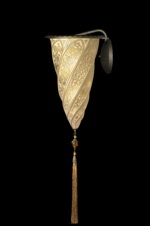 Fortuny Cesendello glass wall applique gold lamp