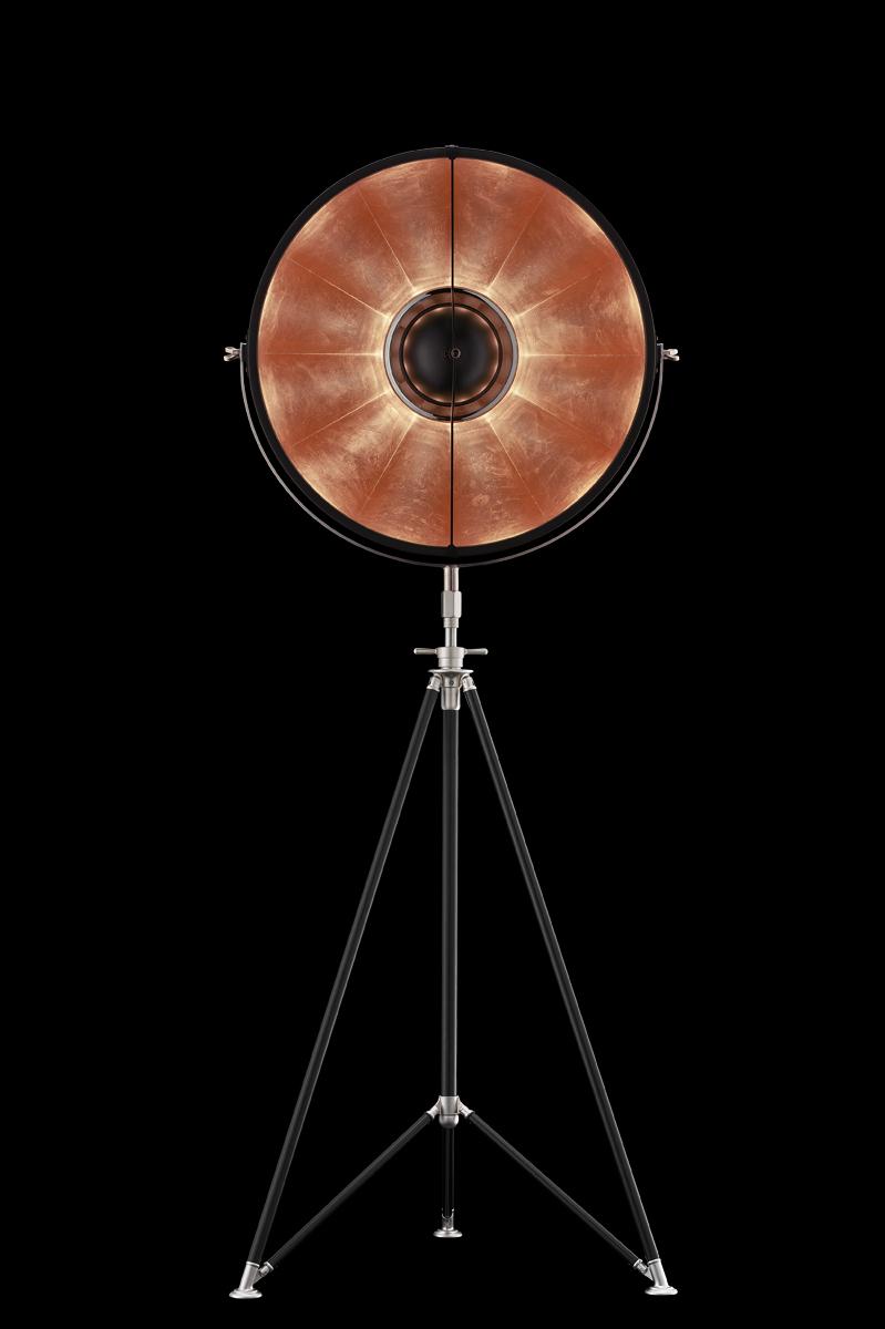 Fortuny Studio 63 floor tripod lamp black copper