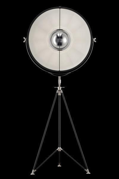 Fortuny Studio 76 floor tripod lamp black & white