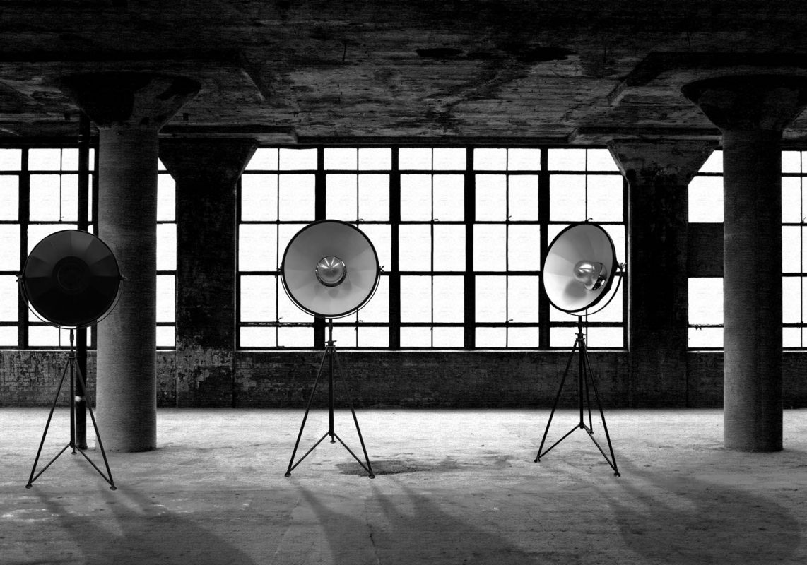 Studio 1907 lamps in a warehouse