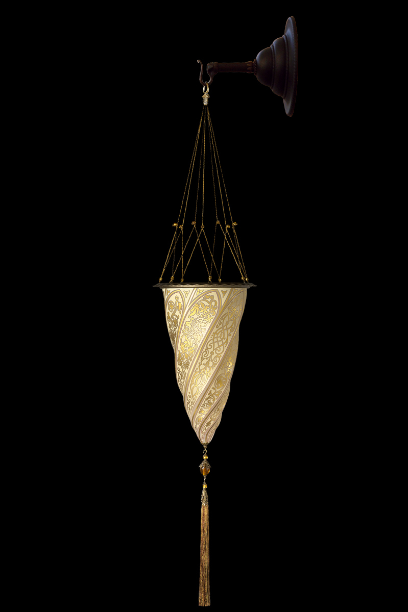 Fortuny Cesendello glass wall gold lamp
