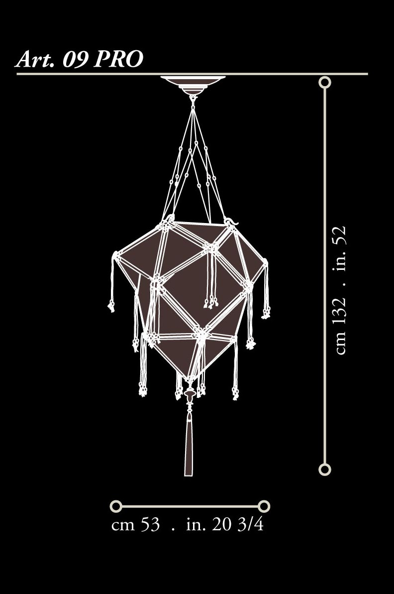 Fortuny silk wood Concubine Proibita lamp dimensions