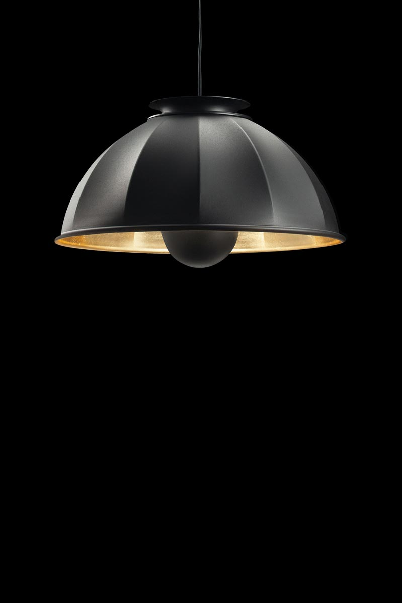 Fortuny Cupola ceiling lamp black gold leaf