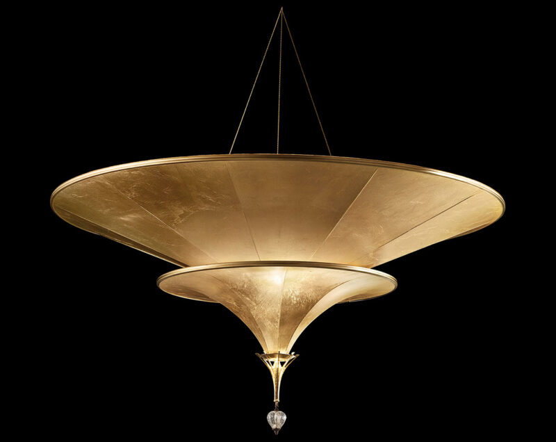Fortuny Icaro 2 tiers suspended glass fibre lamp