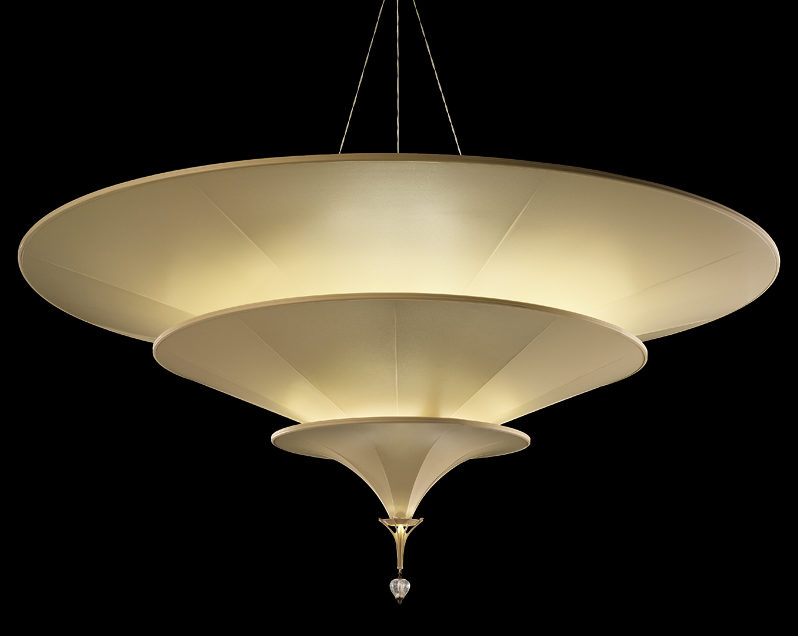 Fortuny Icaro glass fibre 3 tiers ivory lamp