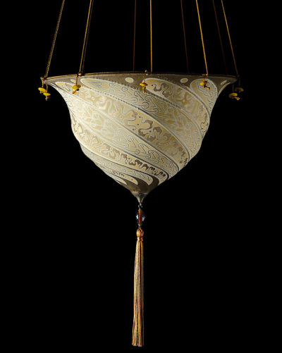 Fortuny Samarkanda Serpentine silk lamp