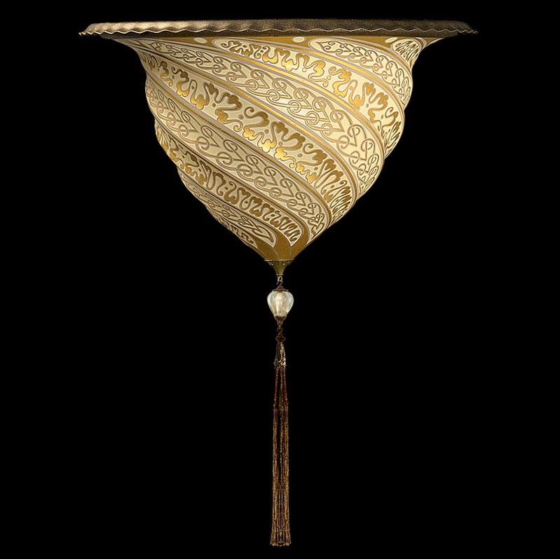 Fortuny Samarkanda wall applique gold glass lamp