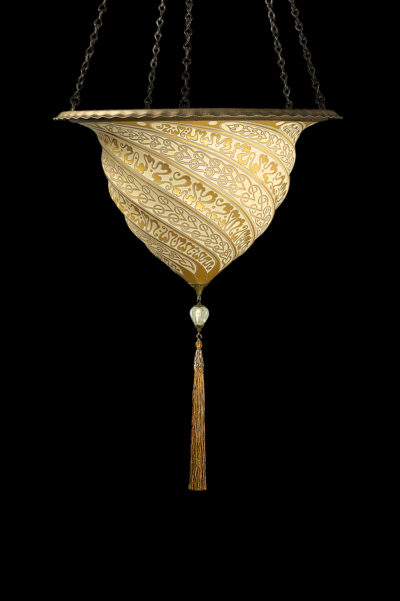 Fortuny Samarkanda gold glass lamp