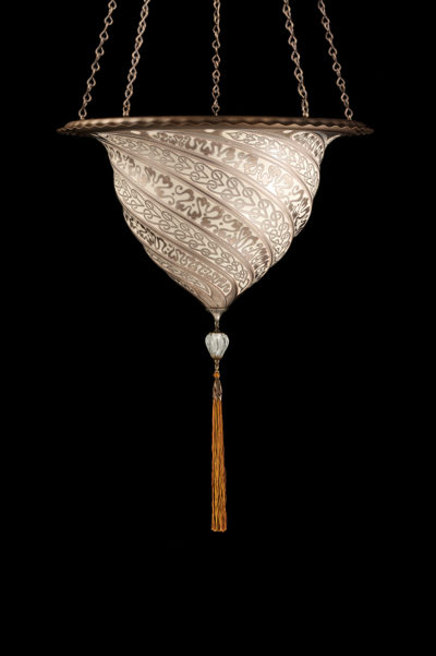 Fortuny Samarkanda silver glass lamp