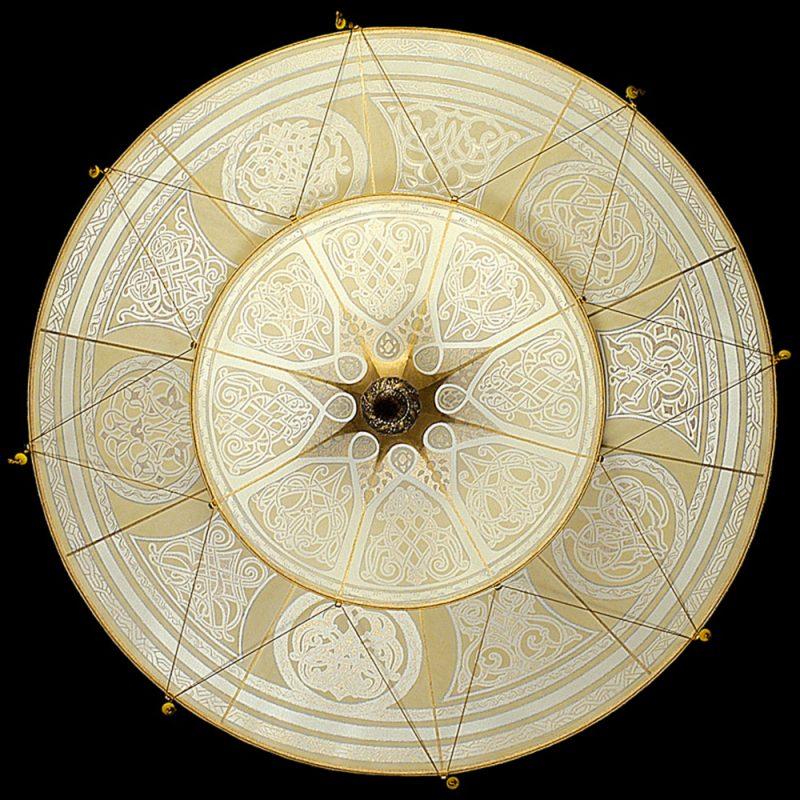 Fortuny Scheherazade 2 tiers Geometric silk lamp bottom
