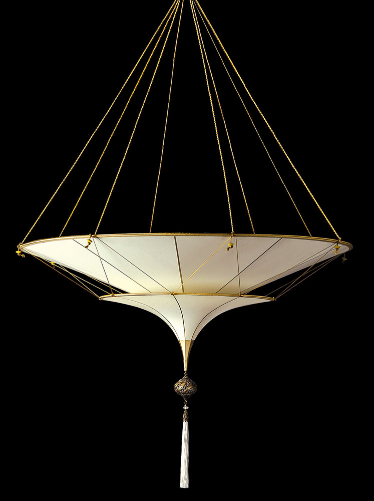 Fortuny Scheherazade 2 tiers Plain silk lamp side