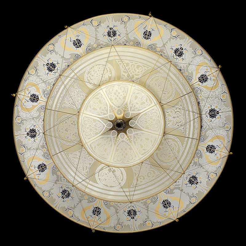 Fortuny Scheherazade 3 tiers Geometric silk lamp bottom