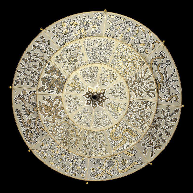 Fortuny Scheherazade 3 tiers Herbarium silk lamp bottom