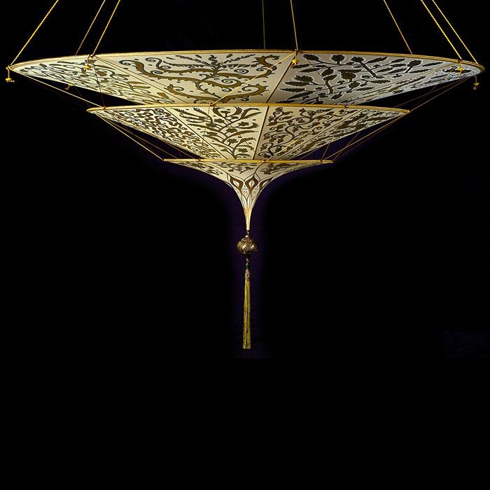 Fortuny Scheherazade 3 tiers Herbarium silk lamp