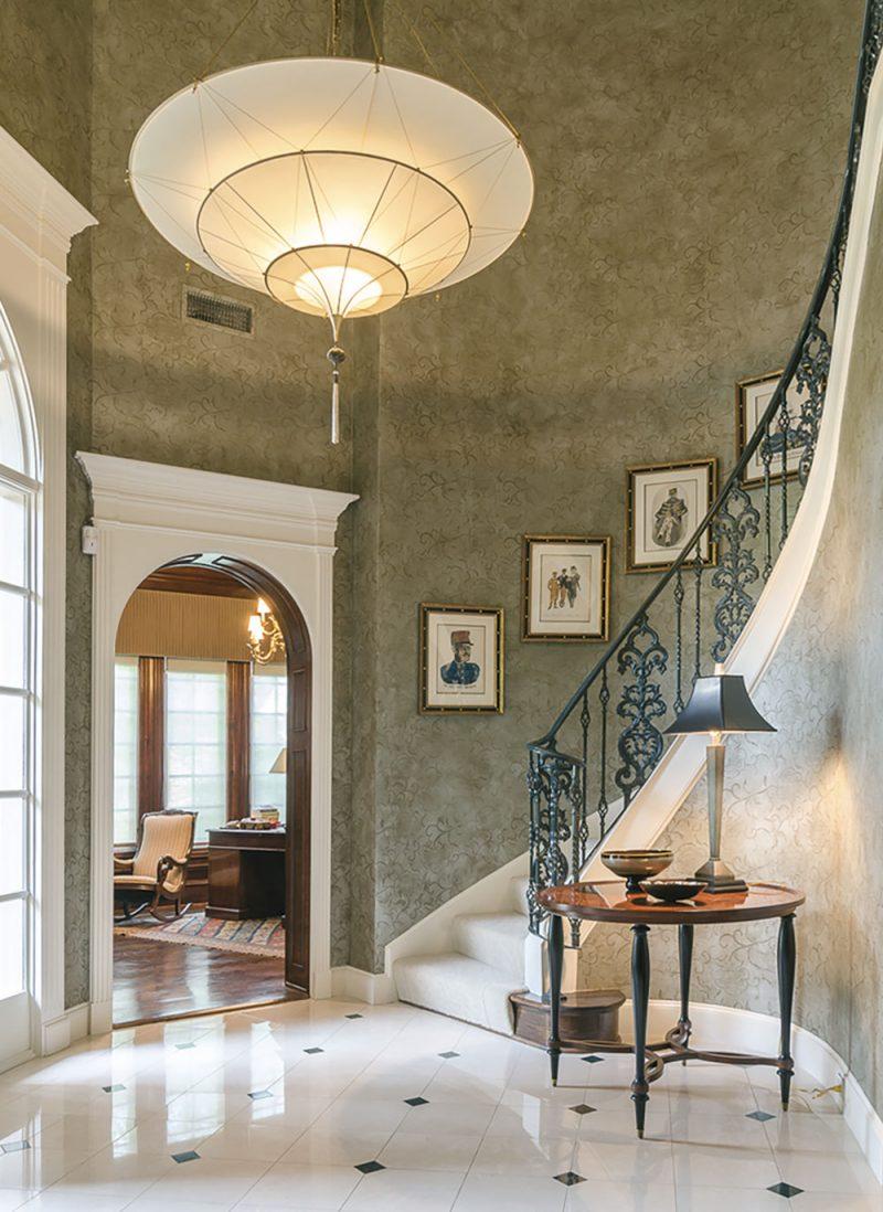 Fortuny Scheherazade 3 tiers plain silk lamp in house