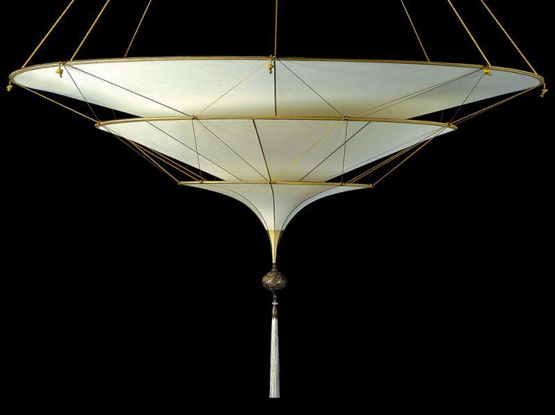 Fortuny Scheherazade 3 tiers Plain silk lamp side