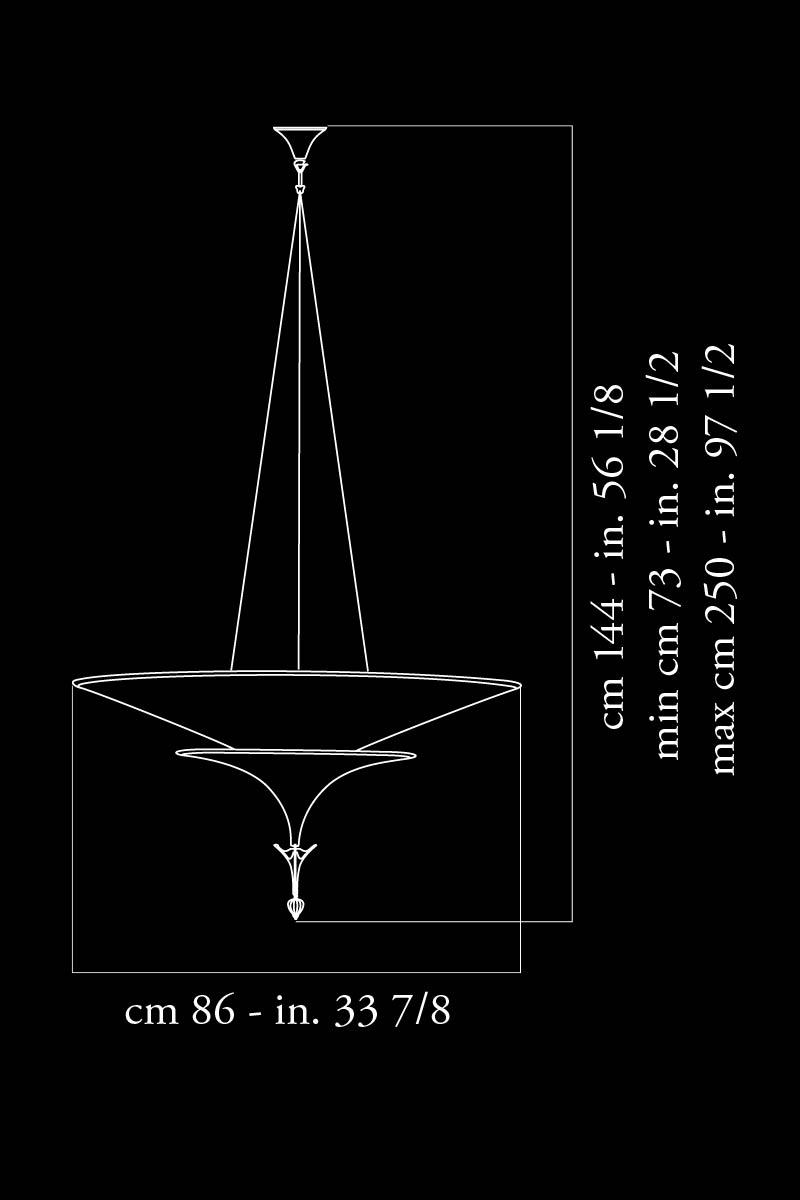 Fortuny Icaro 86 dimensions