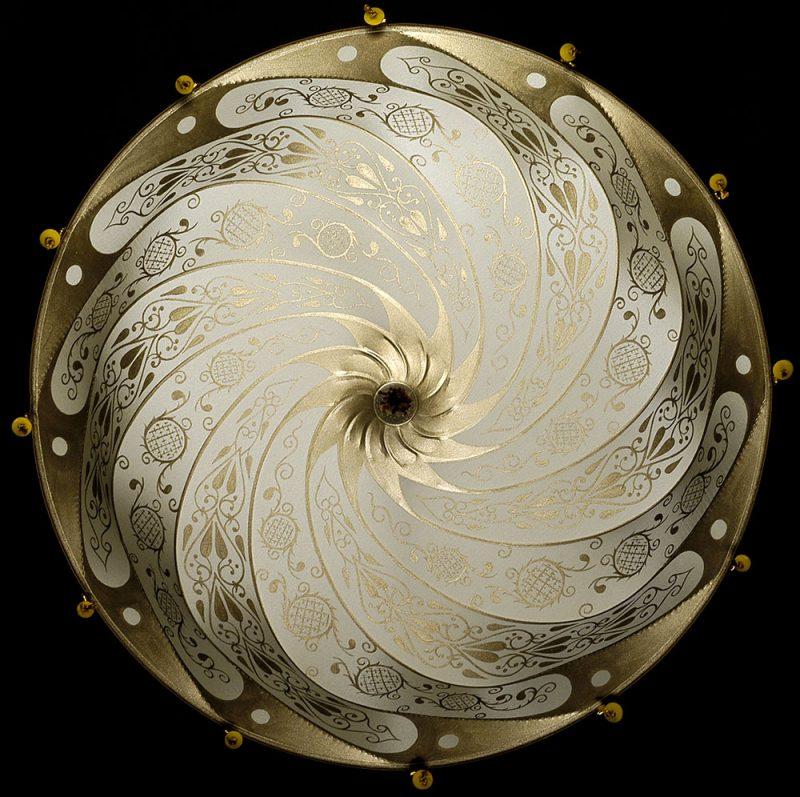 Fortuny Scudo Saraceno ivory Classic silk lamp