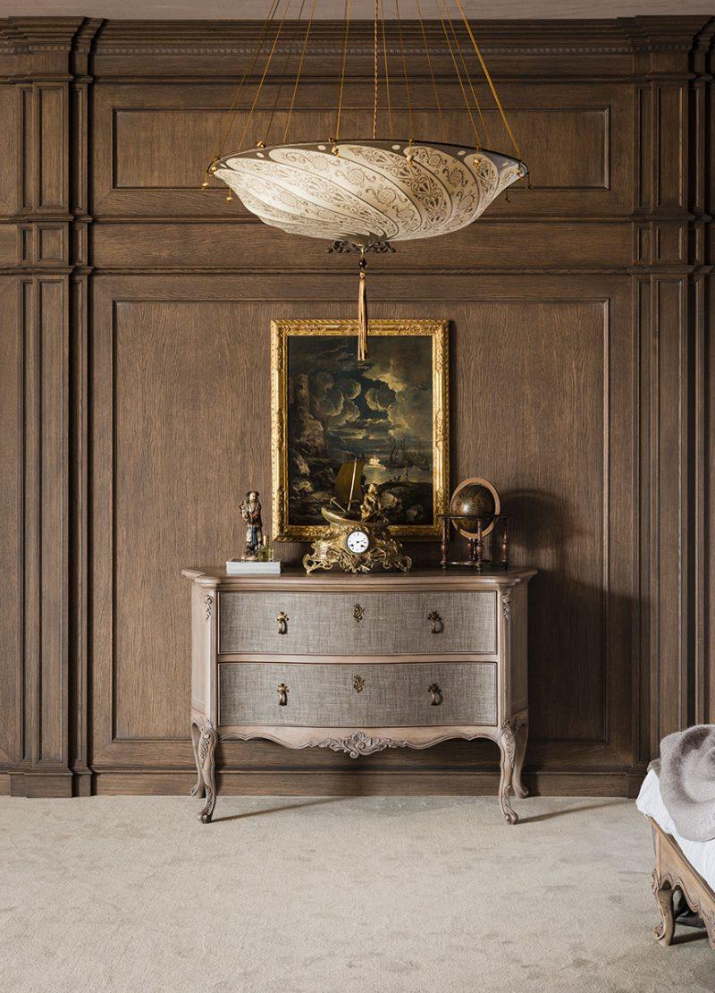 Fortuny Scudo Saraceno silk ivory classic lamp inf bedroom of hotel 2