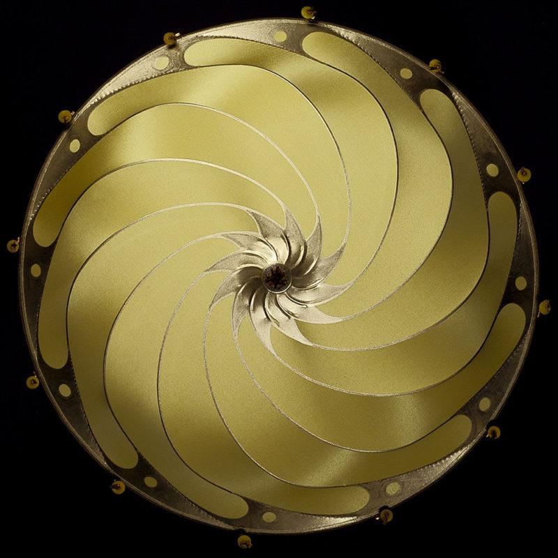 Fortuny Scudo Saraceno yellow ochre Plain silk lamp