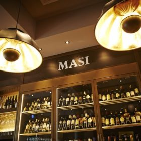 Fortuny lamps at Masi Wine Bar in Zurich 2
