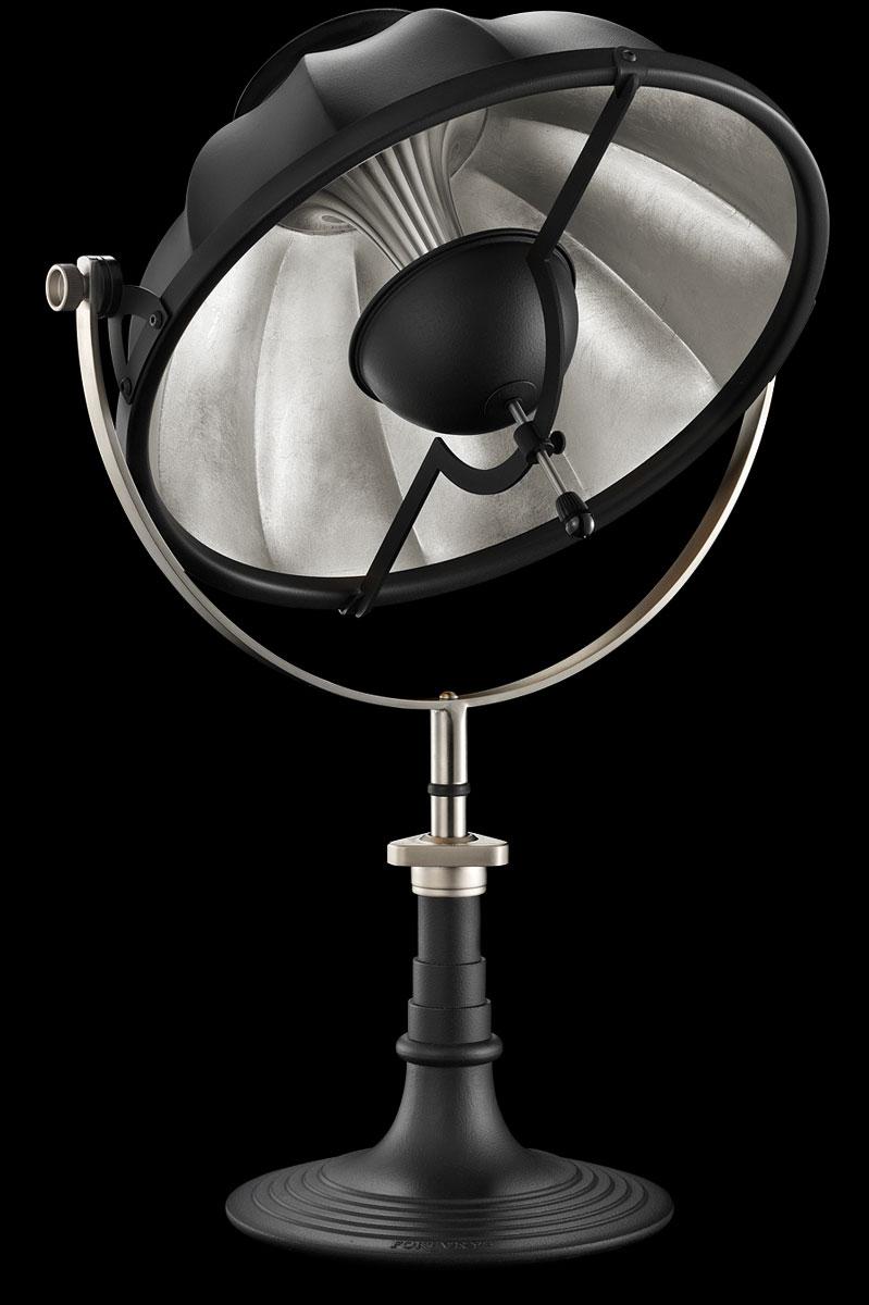 Fortuny Armilla 41 Table Lamp Black & Silver Leaf