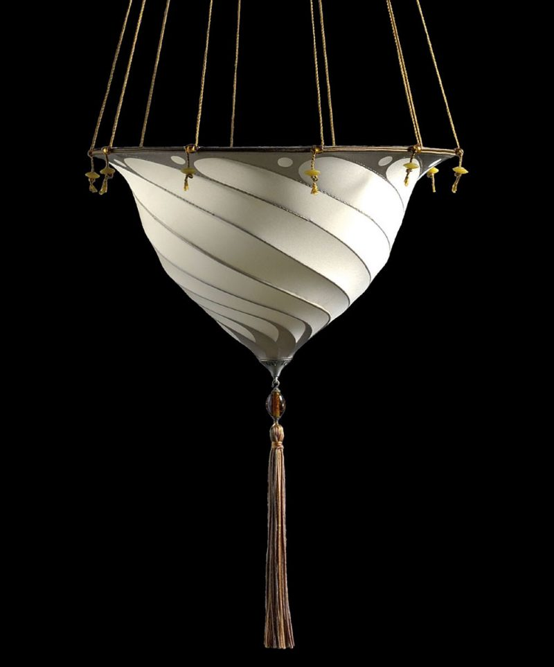 Fortuny Samarkanda Plain silk lamp