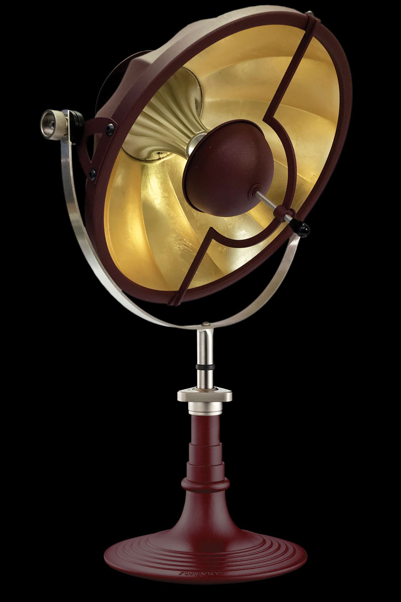 Fortuny Armilla 41 Table Lamp Antique Red & Gold Leaf