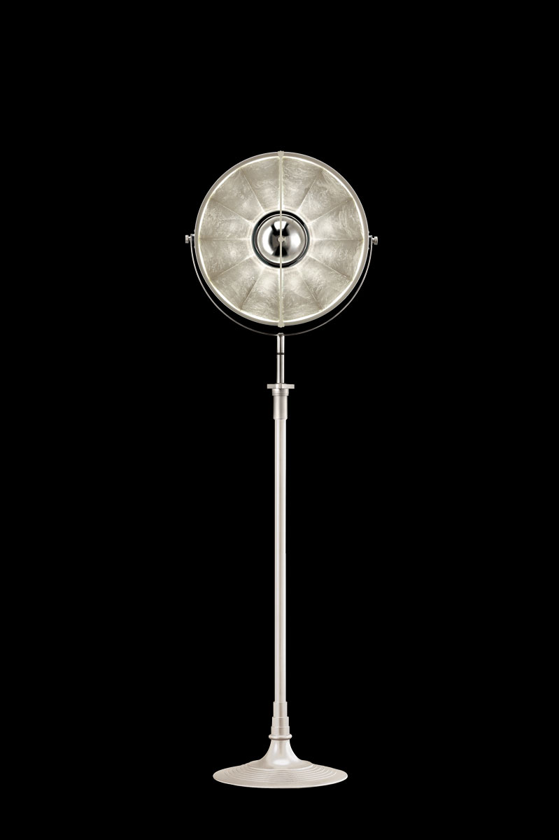 Fortuny Atelier 41 floor lamp white and silver leaf