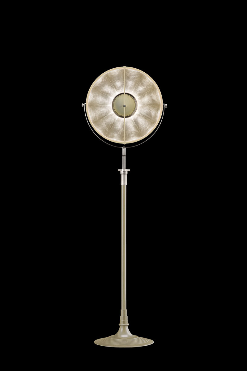 Fortuny Atelier 41 floor lamp quartz & silver leaf
