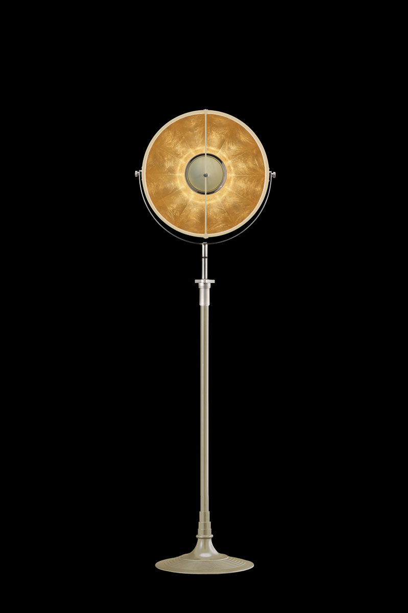 Fortuny Atelier 41 floor lamp quartz & gold leaf