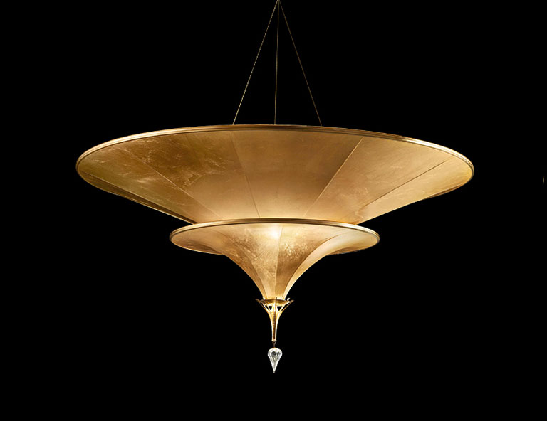 Fortuny Icaro 2 tiers suspended glass fibre lamp category