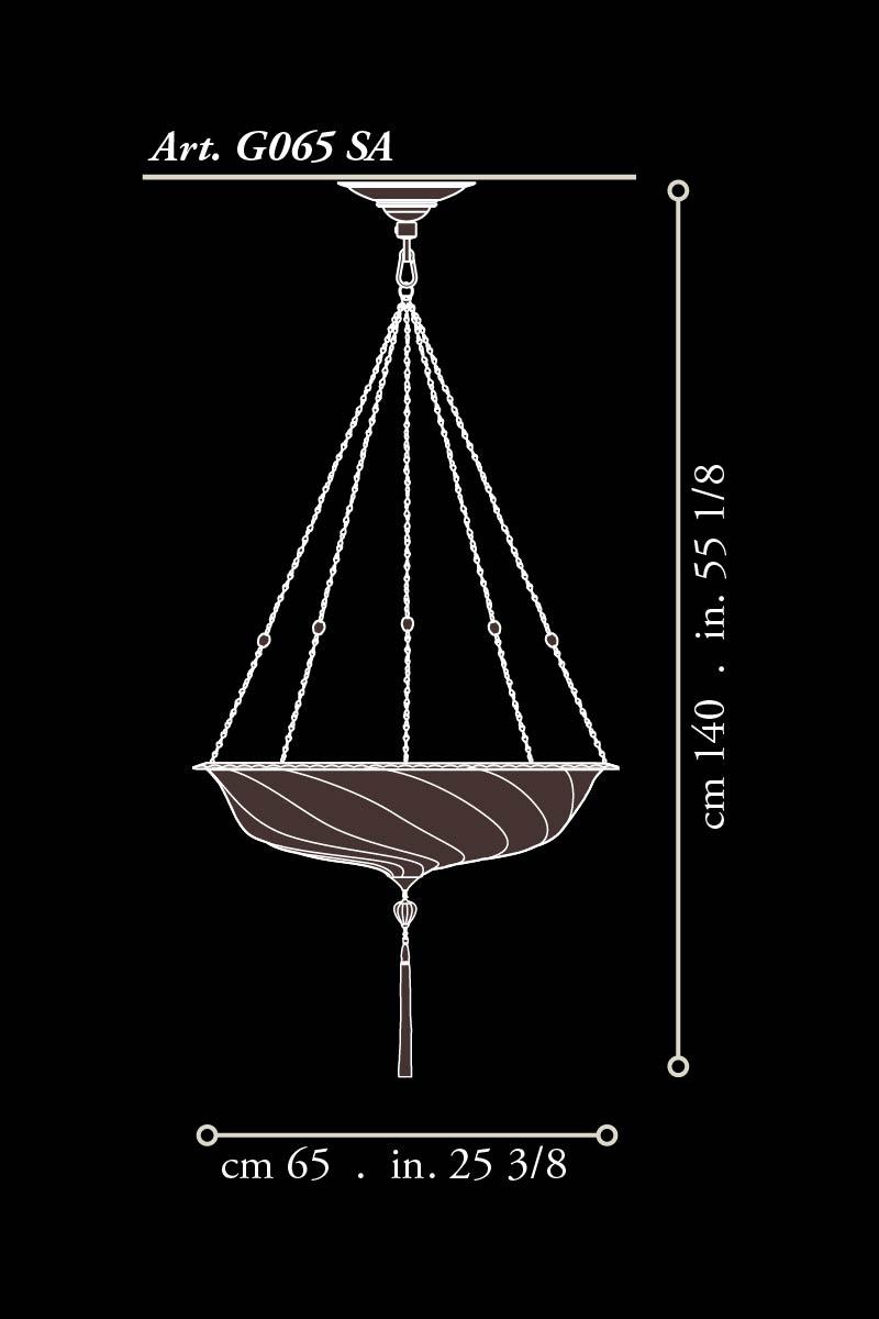Fortuny glass Scudo Saraceno medium dimensions