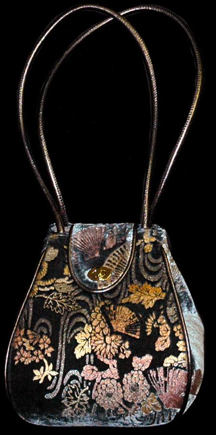 Fortuny Moretta 906 printed velvet bag
