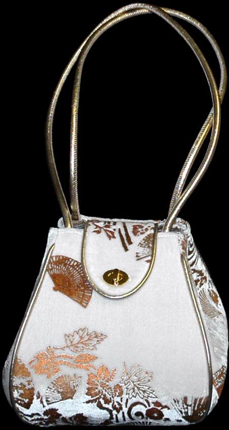 Fortuny Moretta 910 printed velvet bag