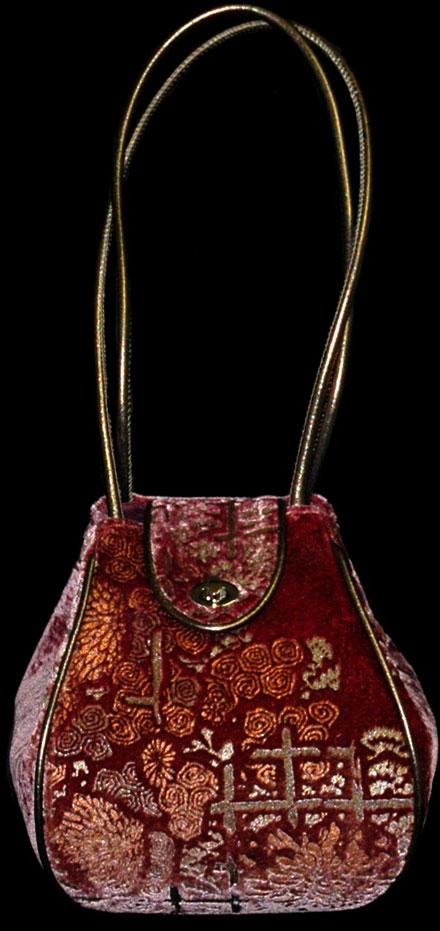 Fortuny Moretta 912 printed velvet bag