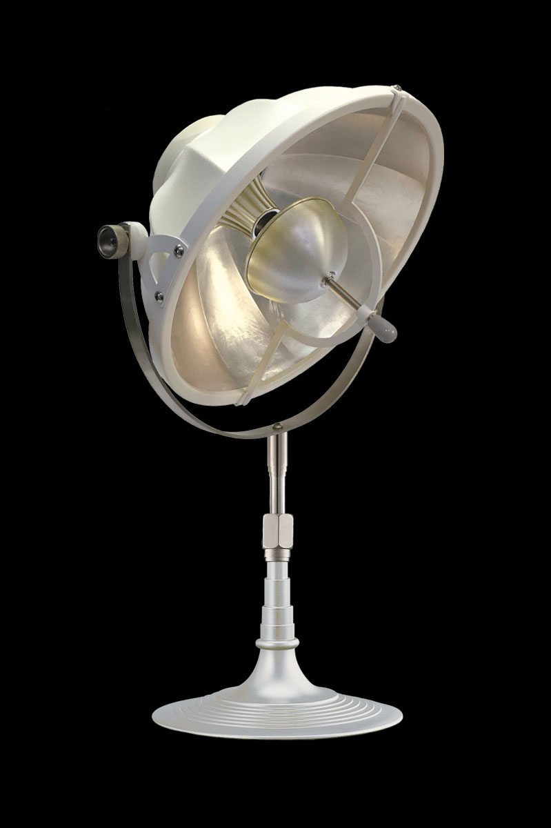 Fortuny Armilla 32 Table Lamp White & silver Leaf