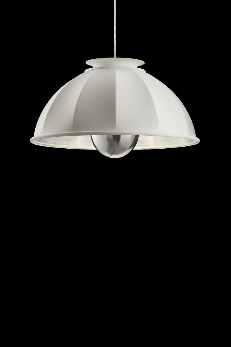 Fortuny Cupola ceiling lamp white and silver leafq