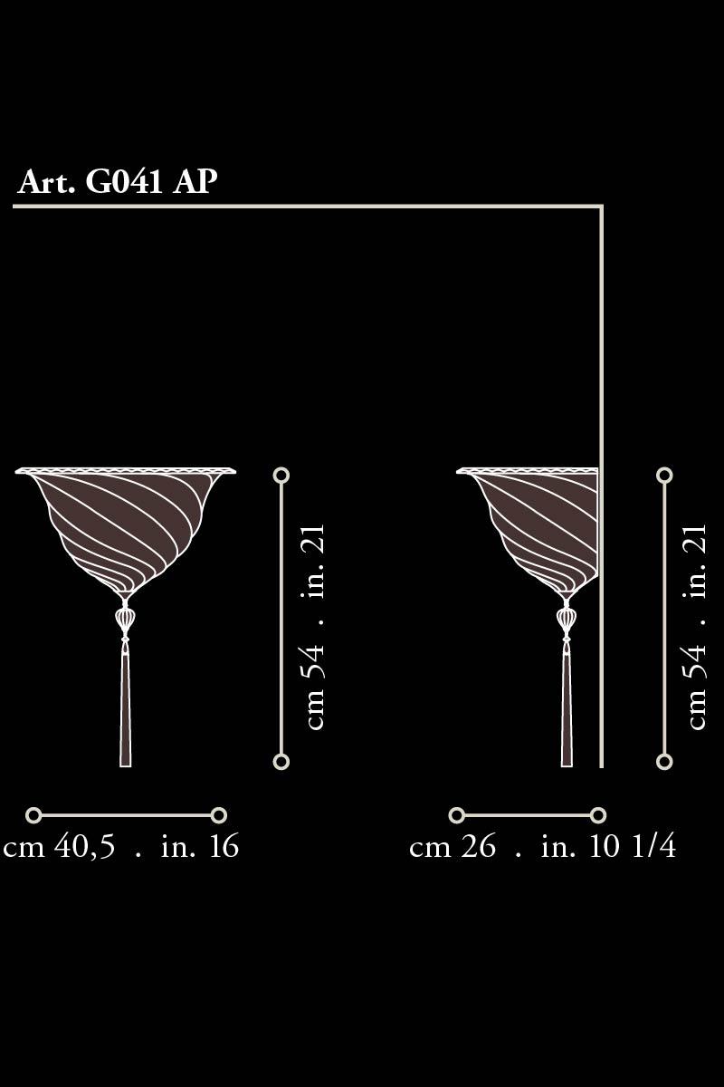Fortuny glass Samarkanda applique dimensions