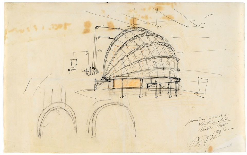 A sketch of Mariano Fortuny's dome