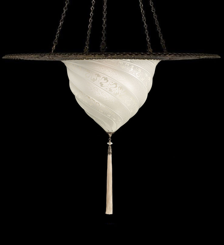 Fortuny Samarkanda wall white glass lamp
