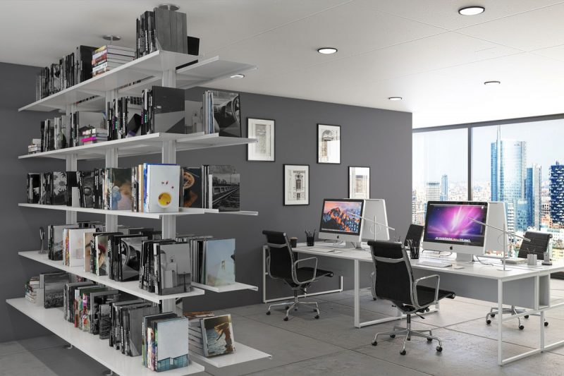 Pallucco Continua modular double face office bookcase