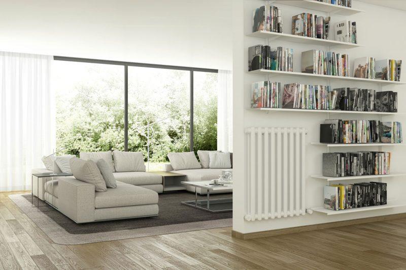 Pallucco Continua white customizable modular bookcase