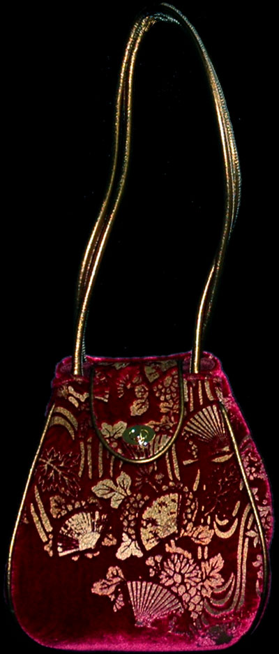 Fortuny Moretta 914 printed velvet bag